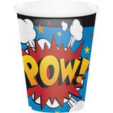 Superhero Slogans Paper Cups - 8 Pack