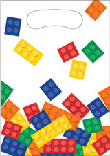 Lego Inspired Block Party Loot Bags - 8 Pack