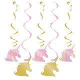 Unicorn Sparkle Dizzy Danglers Hanging Decoration - Pack of 5