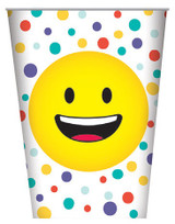 Smiley Face Emoji Paper Cups - 8 Pack