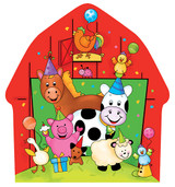 Barnyard Bash Farm Animal Dinner Plates - 8 Pack