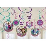 Disney Frozen Hanging Swirl Decorations - 12 Pieces