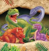 Dino Blast Dinosaur Printed Plastic Tablecover - 137 cm x 274 cm