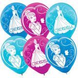Disney Princess Cinderella Sparkle Latex Balloons - 6 Pack