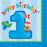 Fun at One 1st Birthday Boy Luncheon Napkins - Pack of 16