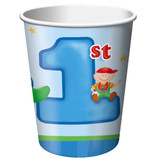 Fun at One 1st Birthday Boy Paper Cups - Pack of 8