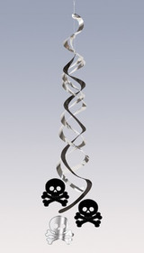 Pirate Parrty Silver and Black Foil Danglers - 2 Pack