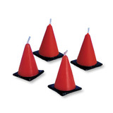 Under Construction Witches Hat Candles - 6 Pack