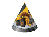 Construction Birthday Zone Hats - 8 Pack