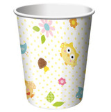 Happy Tree Owl Cups - 8 Pack