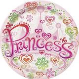 Princess Diva 22.9cm Large Paper Plates - 8 Pack
