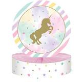 Unicorn Sparkle Honeycomb Centrepiece - 22.8cm x 30.4cm