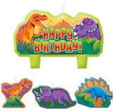 Prehistoric Dinosaur Candles - Pack of 4