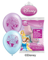 Disney Princess Latex Balloons  - Pack of 6