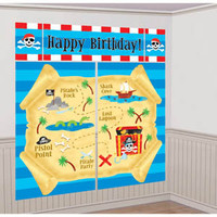Pirate Giant Scene Setter Wall Decorating Kit