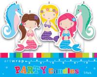 Mermaids Pick Candles - 5 Pack