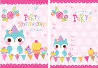 Hoot Owl Padded Invitations - 20 Sheets