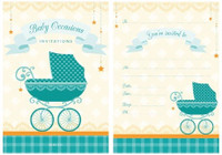 Baby Occasions Padded Invitations - 20 sheets