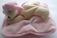 Bear on Pillow - Pink