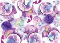 Mermaid Party 23cm  Plates - 8 Pack