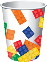 Lego Inspired Block Party 266ml  Paper Cups - 8 Pack