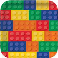 Lego Inspired Block Party 23.1cm Dinner Plates - 8 Pack