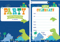 Dino-roar Dinosaur Padded Invitations 20 Sheets