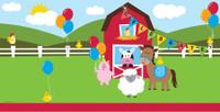 Farmhouse Fun Plastic Tablecover - 137cm x 274cm