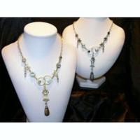 Antique Silver Tear Drop Necklace