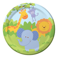 Forest Friends Animals 22.2 cm Dinner Plates - 8 Pack