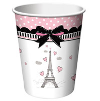 Party in Paris Paper Cups - 8 Pack