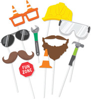 Construction Party Photo Props  - 10 Pack