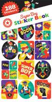 Super Boy Superhero Sticker Book - 12 Sheets