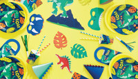 Dinosaur Party Hats - 8 Pack