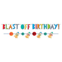 Blast Off Birthday Banner Kit - 2 Banners