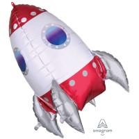 Rocket Ship Foil Balloon - 73 cms