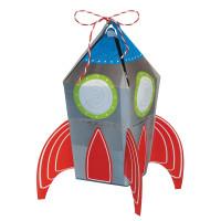 Blast Off Birthday Rocket Favour Treat Boxes - 8 Boxes