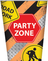 Construction Party Zone Cups - 8 Pack