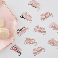 Rose Gold Foil Happy Birthday Table Confetti - 14 Grams