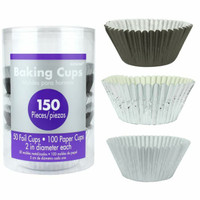 Cupcake Cases - Silver Assortment - Pack of 150
