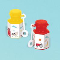 Barnyard Farm Animal Birthday Mini Bubble Favours - 8 Pack