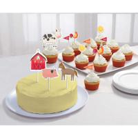 Barnyard Farm Animal Birthday Cake Topper Kit  - 12 Pack