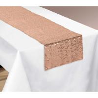 Rose Gold Sequin Table Runner - 33cm x 182.8cm