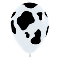 Cow Latex Balloons - 12 Pack