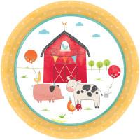 Barnyard Farm Animal Birthday Paper Lunch Plates - 8 Pack