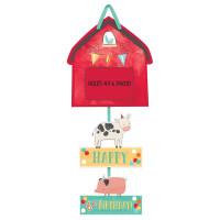 Barnyard Farm Animal Birthday Personalised Photo Sign