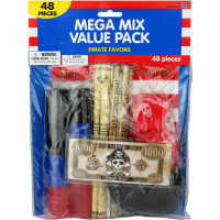 Pirate Party Favour Pack - 48 Pieces