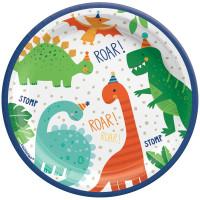 Dino-Mite Dinosaur Lunch Plates - 8 Pack