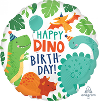 Dino-Mite Dinosaur 43cm Happy Birthday Foil Balloon