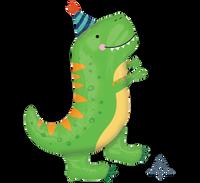 Dino-Mite Dinosaur 86cm T-Rex Supershape Foil Balloon
